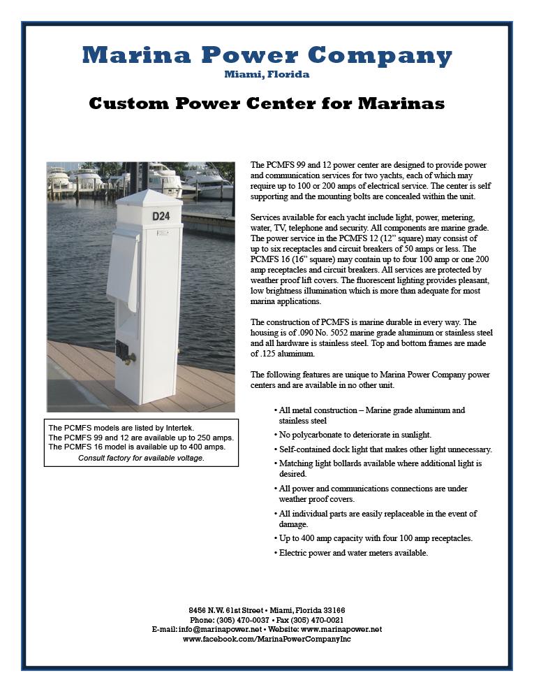 Marina Power Company -- Power Centers